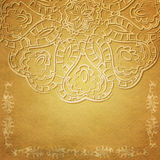 Textured card with filigree ornament Royalty Free Stock Photos