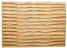 Textured cardboard with torn edges Royalty Free Stock Image