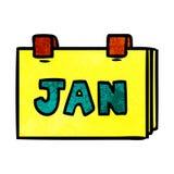 Textured cartoon doodle of a calendar with jan. A creative illustrated textured cartoon doodle of a calendar with jan royalty free illustration