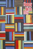 Textured ceramic wall tile. With word happy birth day Royalty Free Stock Photo