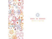 Textured Christmas Stars Horizontal Seamless Stock Image