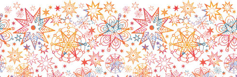 Textured Christmas Stars Horizontal Seamless Royalty Free Stock Photo