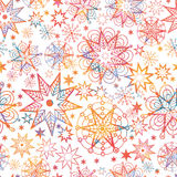 Textured Christmas Stars Seamless Pattern Royalty Free Stock Images