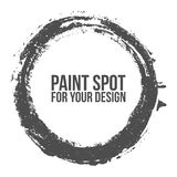 Textured circle Brush Stroke for your Design Stock Photography