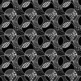 Textured circles seamless background vector illustration