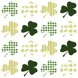 Textured clover background Royalty Free Stock Image