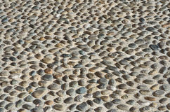 Textured cobbled wall background Stock Photography