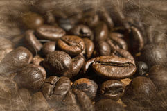 Textured coffee beans Stock Image