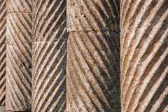 Textured columns in Apamea Royalty Free Stock Photography
