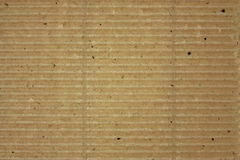Textured corrugated striped cardboard Stock Photography