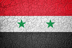 Textured cracked effect Syria flag Royalty Free Stock Images