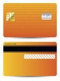 Textured credit card design Royalty Free Stock Photography