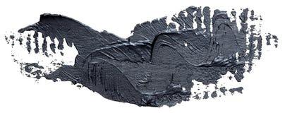 Textured czarny nafcianej farby muśnięcia uderzenie, odosobniony ilustracja wektor