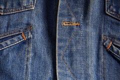Textured of denim jacket. Royalty Free Stock Image