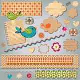 Textured design elements royalty free illustration
