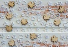 Textured drewniani liście klonowi obraz royalty free