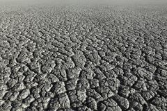 Dry land texture after drought. Textured dry cracked land after drought, natural disaster after long summer Royalty Free Stock Images