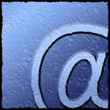 Textured email sign Royalty Free Stock Photos