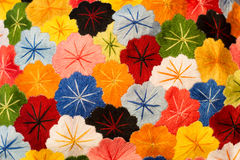 Textured Fabric Flowers Stock Images