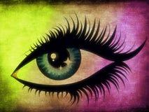 Textured female eye Royalty Free Stock Photos