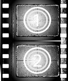 Textured film strip. Old grunge textured film strip Royalty Free Stock Photo