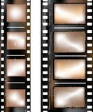 Textured film strip. Old grunge textured film strip Royalty Free Stock Images