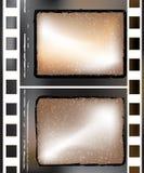 Textured film strip. Old grunge textured film strip Royalty Free Stock Photos