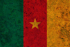 Textured flag of Cameroun in nice colors Royalty Free Stock Photography