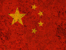 Textured flag of China in nice colors Royalty Free Stock Photography