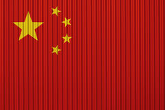 Textured flag of China in nice colors stock photo