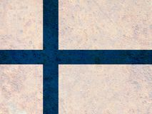 Textured flag of Finland in nice colors stock image