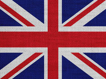 Textured flag of Great Britain in nice colors. Textured flag of Great Britain in colors Stock Photos