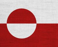 Textured flag of Greenland in nice colors Royalty Free Stock Image