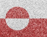 Textured flag of Greenland in nice colors stock photo