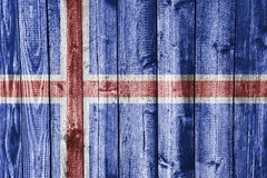 Textured flag of Iceland in nice colors Royalty Free Stock Photography