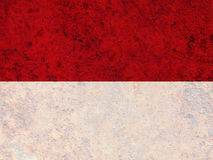 Textured flag of Indonesia in nice colors royalty free stock images