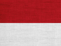 Textured flag of Indonesia in nice colors stock photography