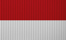 Textured flag of Indonesia in nice colors royalty free illustration