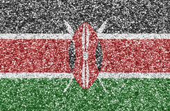 Textured flag of Kenya in nice colors stock images