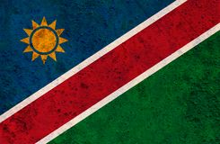 Textured flag of Namibia in nice colors. Textured flag of Namibia in colors Stock Photo