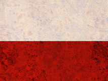Textured flag of Poland in nice colors royalty free stock photos