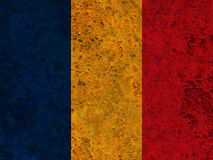 Textured flag of Romania in nice colors Royalty Free Stock Images
