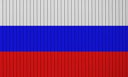 Textured flag of Russia in nice colors stock photo
