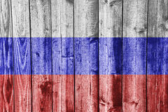 Textured flag of Russia in nice colors Stock Photography