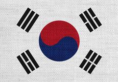 Textured flag of South Korea in nice colors. Textured flag of South Korea in colors royalty free stock photography