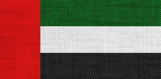 Textured flag of the United Arab Emirates in nice colors. Textured flag of the United Arab Emirates in colors Stock Image