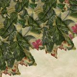 Textured floral fabric Royalty Free Stock Photos