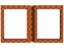 Textured folding photoframe book render in brown tones Stock Photo