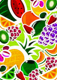 Textured fruit background Stock Photography