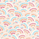 Textured geometric doodle seamless pattern Royalty Free Stock Photography